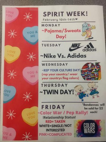 CHECK OUT THE SPIRIT WEEK FLYER