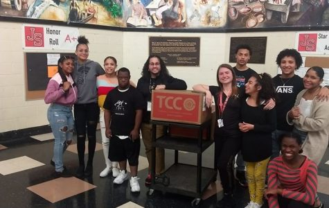 Ms. Lombardi and The Cellular Connection Team Up To Get School Supplies to JSEC