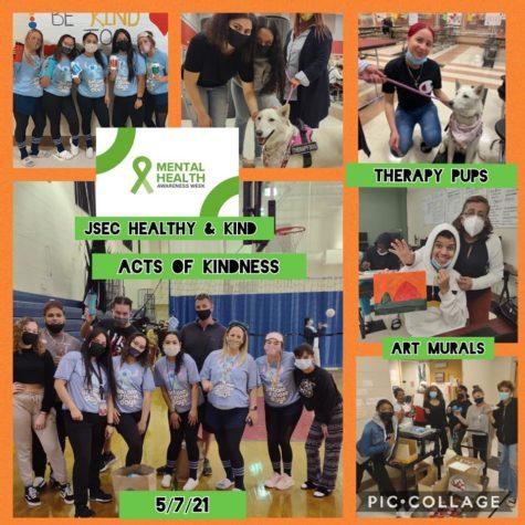 May is Mental Health Awareness Month @ JSEC!  Therapy Pups, Art Canvasses, Raffles, Door Decorating, Music, Bingo, & Prizes!