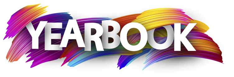 Yearbook+sign.+Colorful+brush+design.+Vector+background.